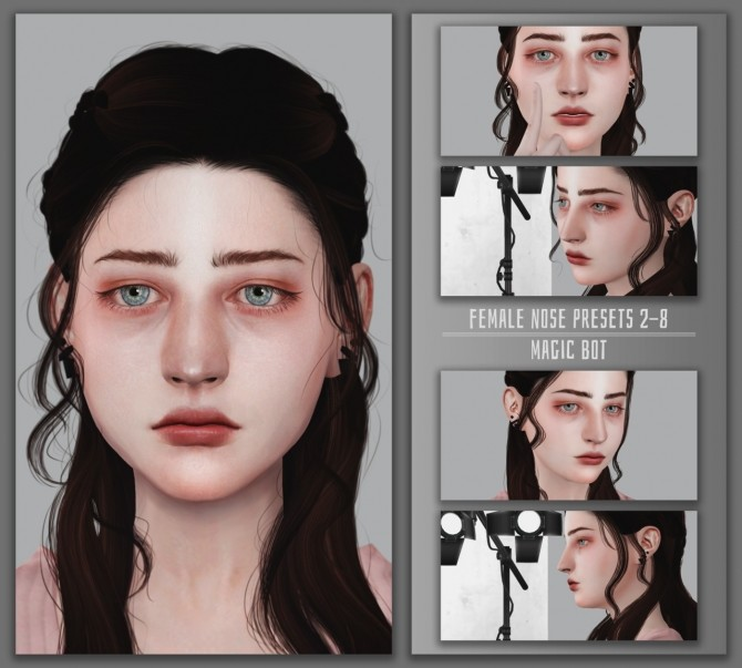 FEMALE NOSE PRESETS #2 8 at Magic bot image 242 670x603 Sims 4 Updates