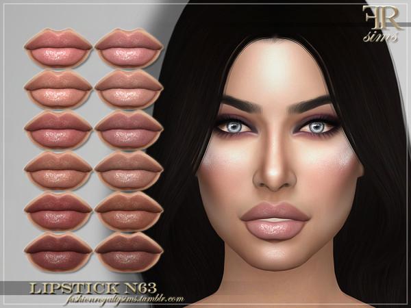 Sims 4 FRS Lipstick N63 by FashionRoyaltySims at TSR