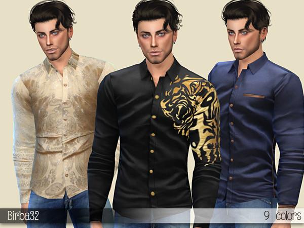 Sims 4 Thomas shirts by Birba32 at TSR