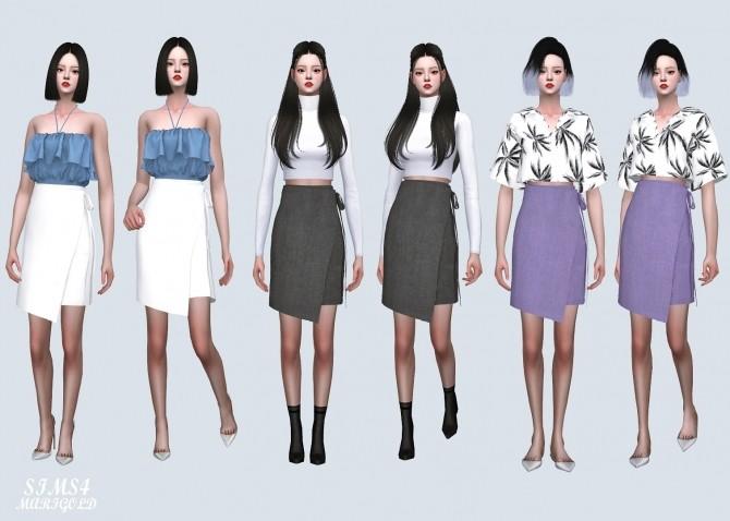 Sims 4 MG Wrap Midi Skirt (P) at Marigold