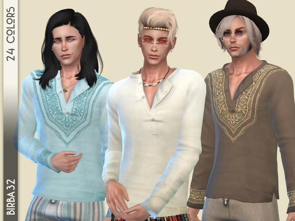 Sims 4 Boho T Shirt man by Birba32 at TSR