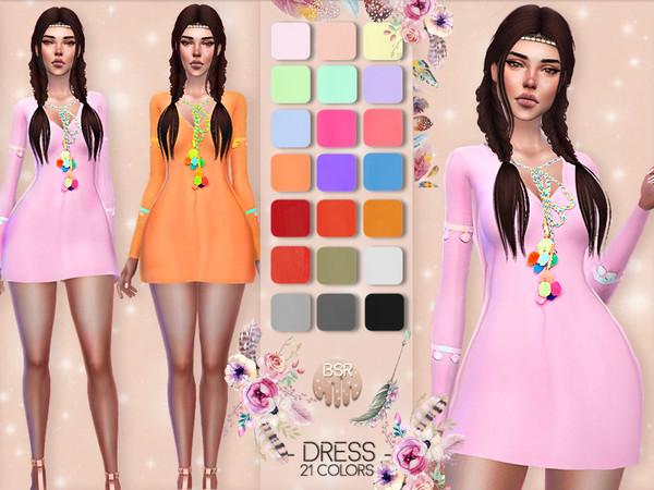 Sims 4 Boho Dress BD41 by busra tr at TSR