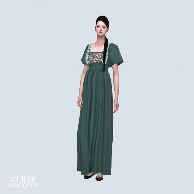 Sims 4 Flower Summer Long Dress (P) at Marigold