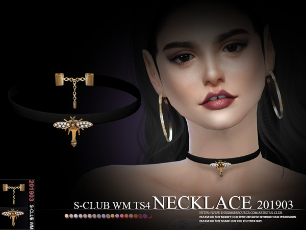 Sims 4 Necklace 201903 by S Club WM at TSR