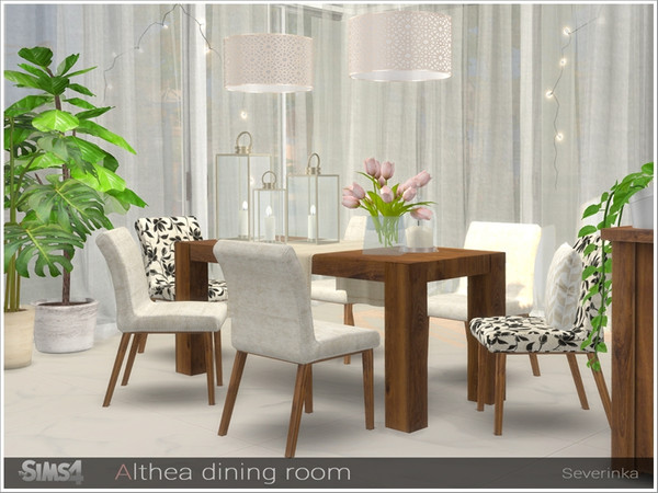 Althea dining room by Severinka at TSR image 2630 Sims 4 Updates