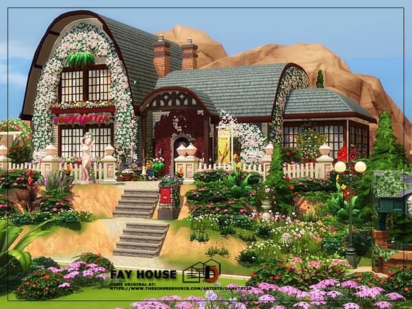 Sims 4 Fay house by Danuta720 at TSR