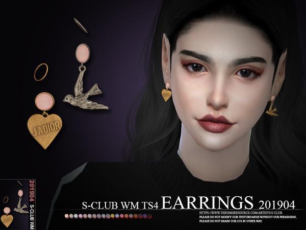 Sims 4 EARRINGS 201904 by S Club WM at TSR