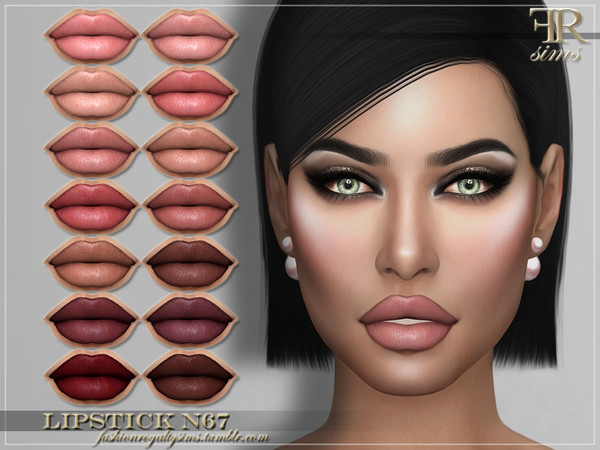 Sims 4 FRS Lipstick N67 by FashionRoyaltySims at TSR