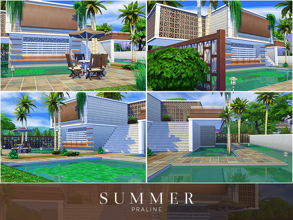 Sims 4 Summer house by Pralinesims at TSR