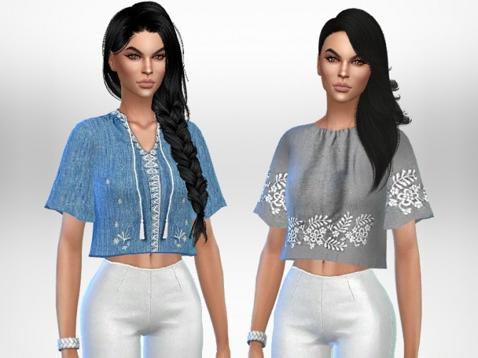 Sims 4 Analya Tops by Puresim at TSR