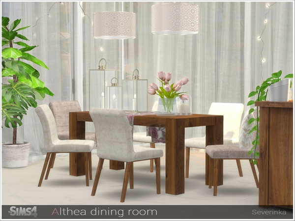 Althea dining room by Severinka at TSR image 2731 Sims 4 Updates