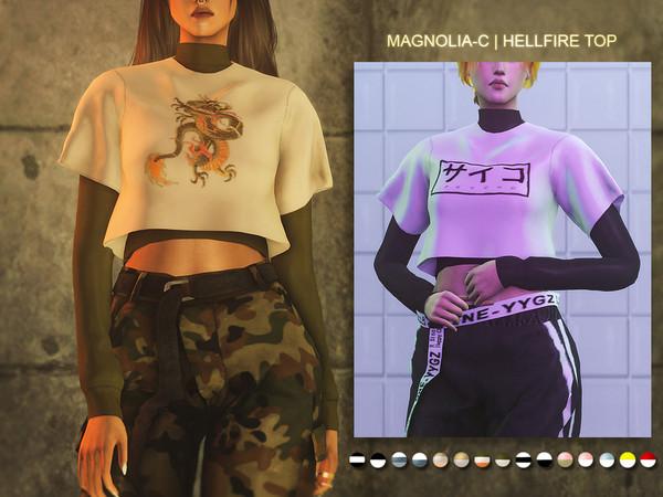 Sims 4 Hellfire Top by magnolia c at TSR