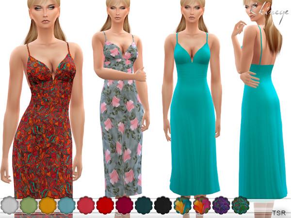 Cami Midi Dress by ekinege at TSR image 2820 Sims 4 Updates