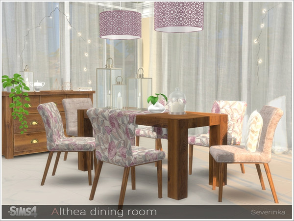 Althea dining room by Severinka at TSR image 2830 Sims 4 Updates