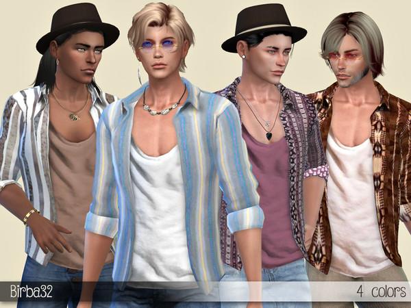 Sims 4 Boho open shirt by Birba32 at TSR