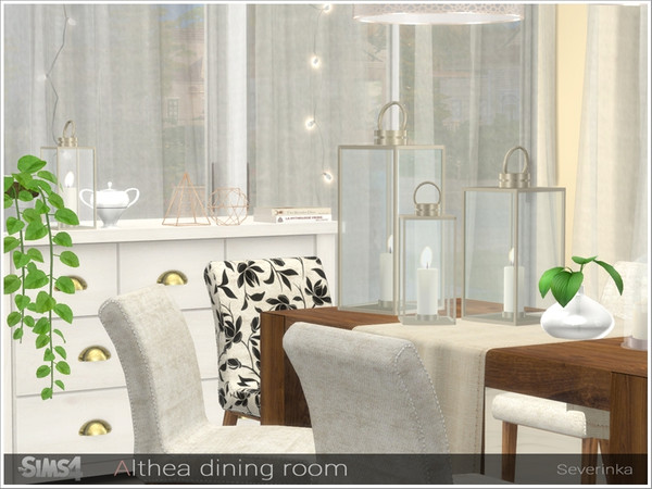Althea dining room by Severinka at TSR image 2930 Sims 4 Updates