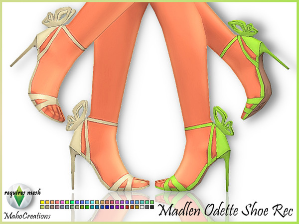 Sims 4 Madlen Odette Shoes Recolor by MahoCreations at TSR