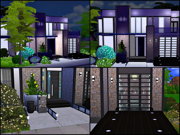 Villa Black Blue and White by Tontin2018 at TSR image 3102 Sims 4 Updates