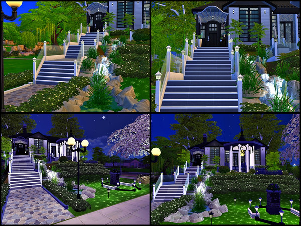 Sims 4 Modern Vacation House On The Mountain by Tontin2018 at TSR