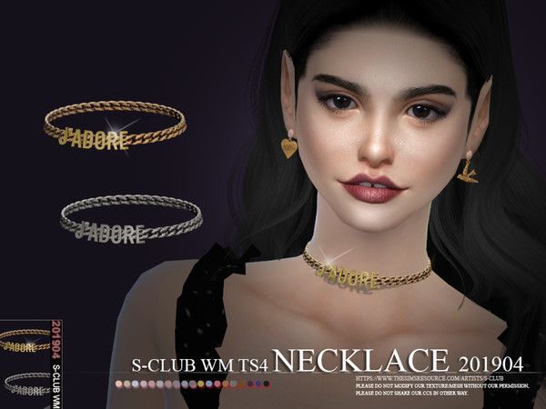 Sims 4 Necklace 201904 by S Club WM at TSR