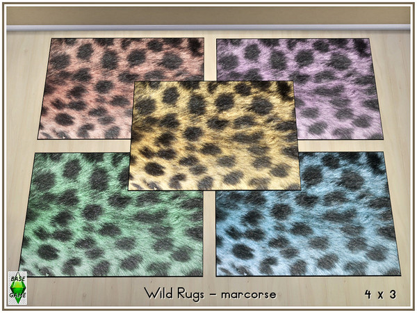 Wild Rugs by marcorse at TSR image 320 Sims 4 Updates