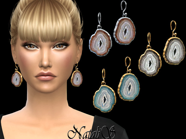 Agate slices earrings by NataliS at TSR image 3214 Sims 4 Updates