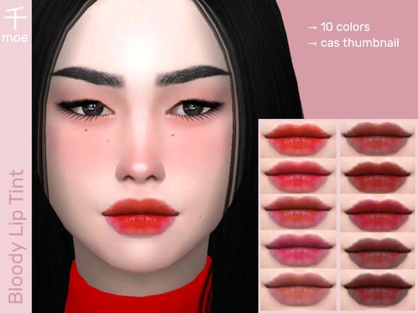 Sims 4 Lip Tint V2 by Senmoe at TSR