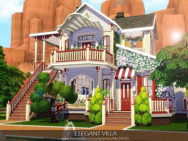 Elegant Villa by MychQQQ at TSR image 3323 Sims 4 Updates