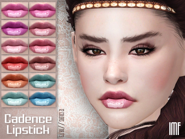 Sims 4 IMF Cadence Lipstick N.173 by IzzieMcFire at TSR