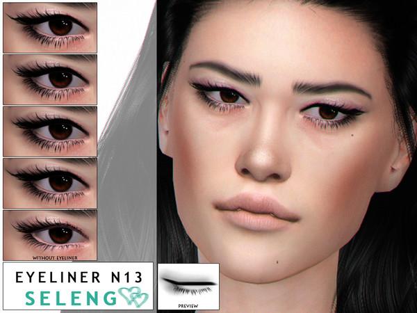 Sims 4 Eyeliner N13 by Seleng at TSR