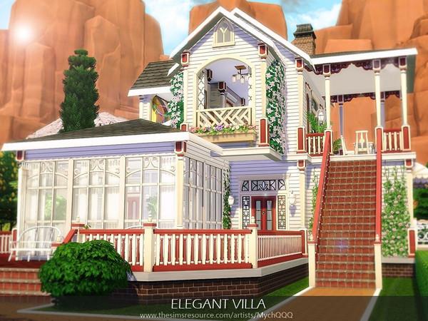 Elegant Villa by MychQQQ at TSR image 3522 Sims 4 Updates