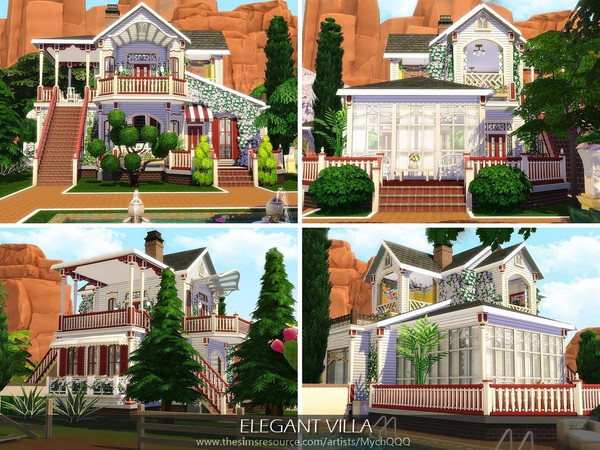 Elegant Villa by MychQQQ at TSR image 3622 Sims 4 Updates