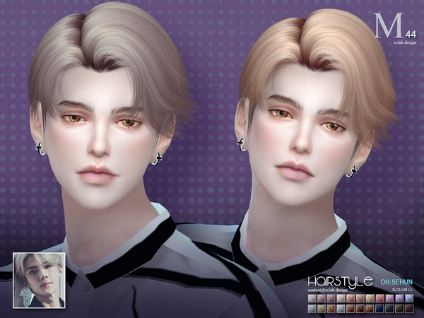 Hair SeHun N44 By S-Club At TSR » Sims 4 Updates