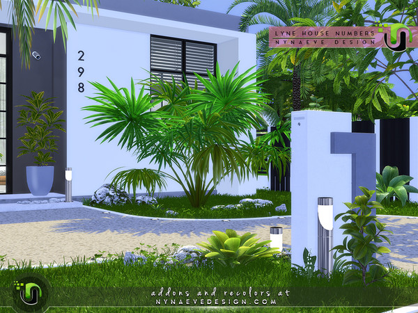 Sims 4 Lyne House Numbers by NynaeveDesign at TSR
