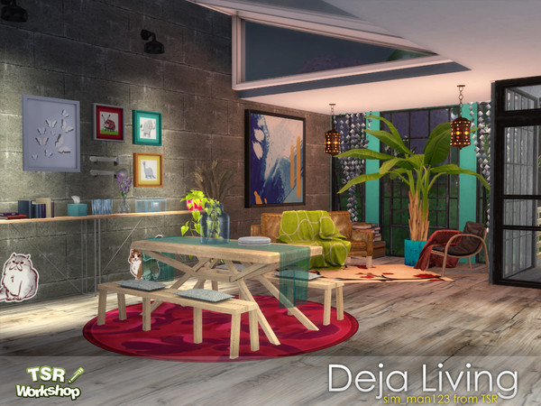 Deja Living and Dining Room by sim man123 at TSR image 388 Sims 4 Updates