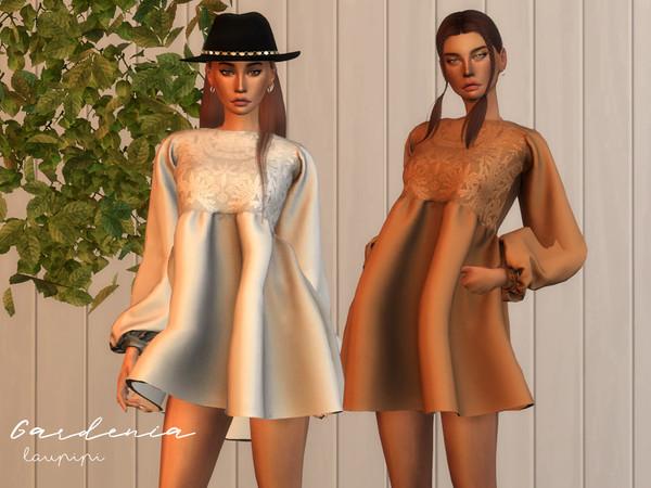 Sims 4 Gardenia Boho dress by laupipi at TSR