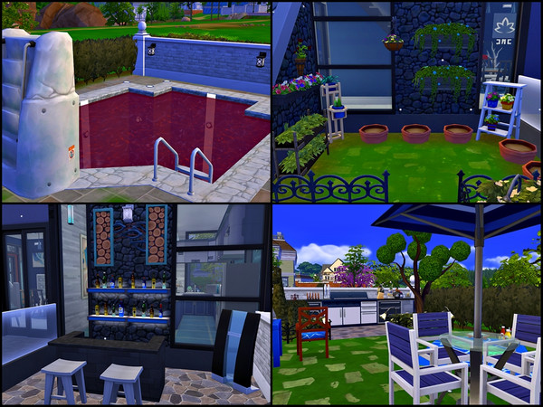 Villa Black Blue and White by Tontin2018 at TSR image 4102 Sims 4 Updates