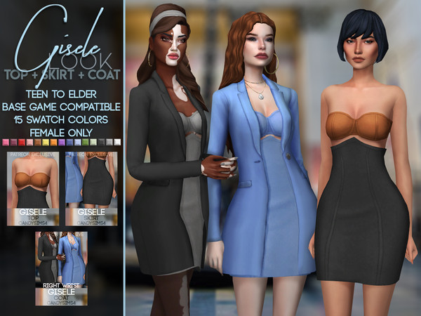 Sims 4 GISELE OUTFIT by c4ndypr1ncess at TSR