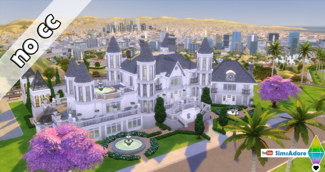 Sims 4 Fantasia Castle With Jail and Indoor garden by bradybrad7 at Mod The Sims