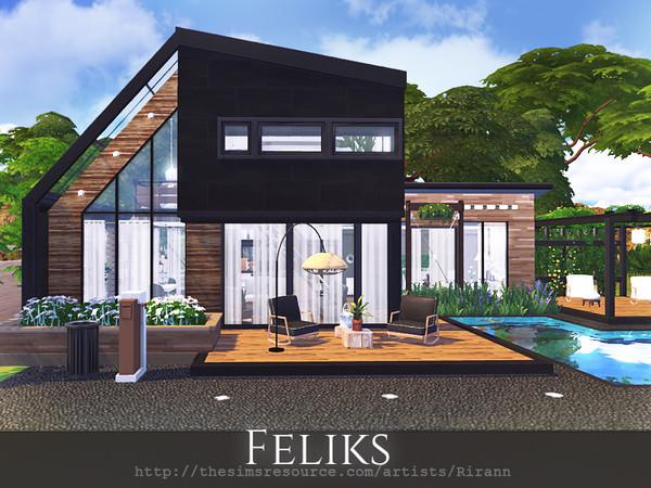 Feliks house by Rirann at TSR image 4124 Sims 4 Updates