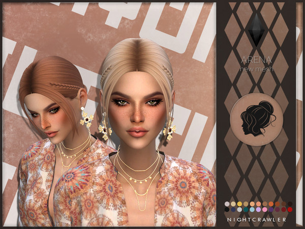 Sims 4 Arena hair by Nightcrawler at TSR