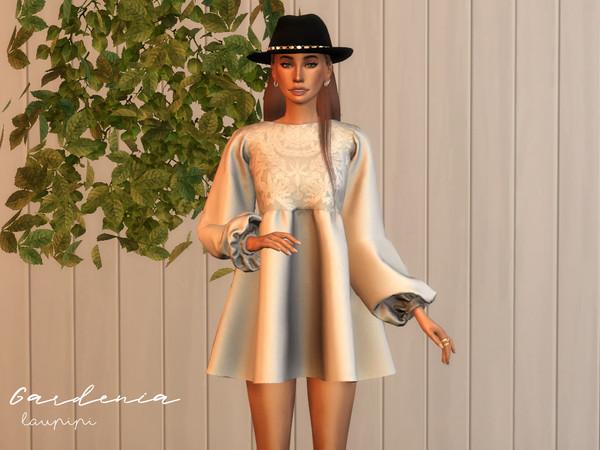 Gardenia Boho dress by laupipi at TSR image 416 Sims 4 Updates