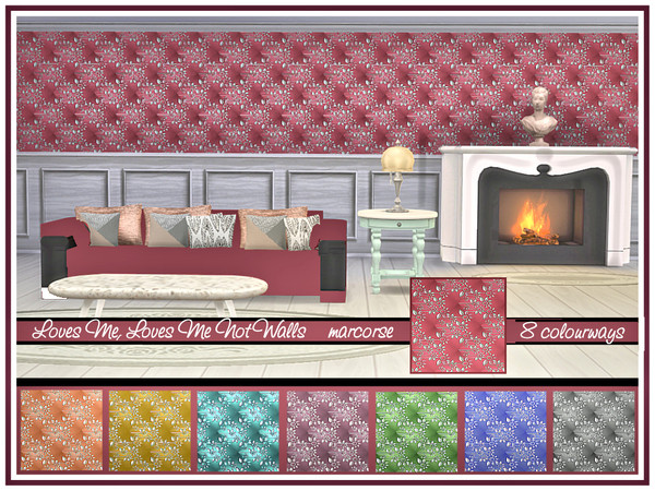 Loves Me Not Walls by marcorse at TSR image 419 Sims 4 Updates