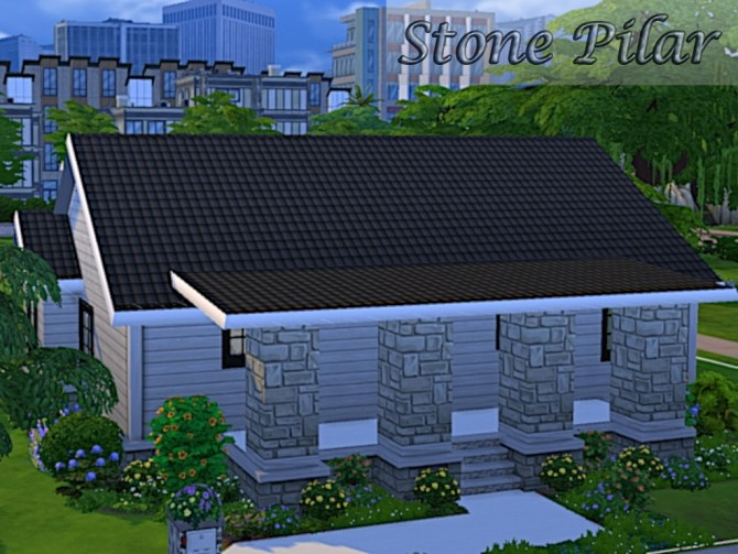 Stone Pilar house by oumamea at Mod The Sims image 4310 670x503 Sims 4 Updates
