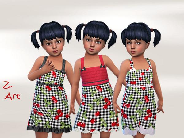 Sims 4 BabeZ 63 cute summer dress with cherries by Zuckerschnute20 at TSR