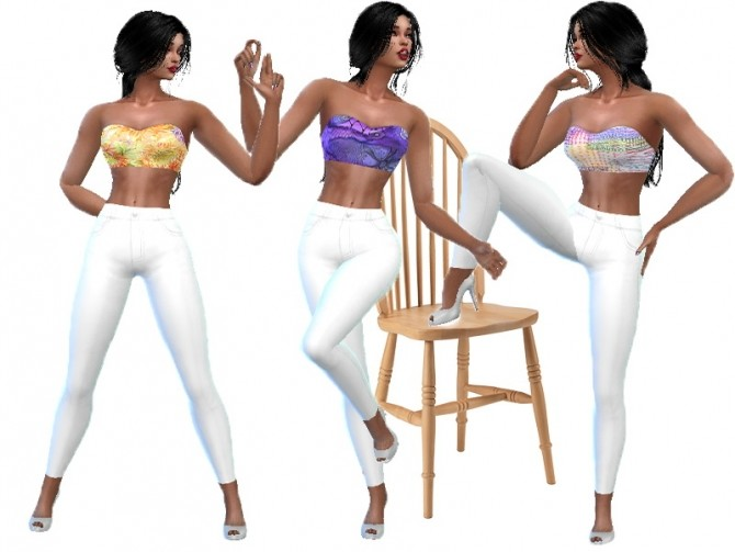 Sims 4 Summer outfit at Trudie55