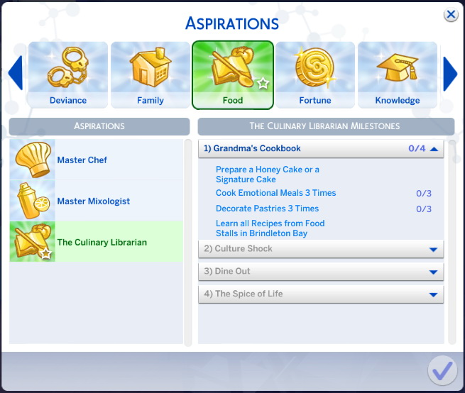 Sims 4 aspiration downloads » Sims 4 Updates