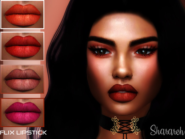 Sims 4 Flix Lipstick by Sharareh at TSR