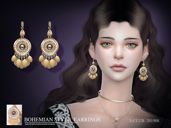 EARRINGS 201908 by S Club LL at TSR image 462 Sims 4 Updates