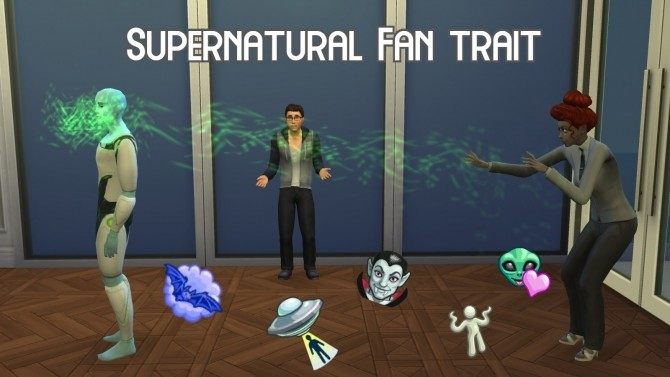 Sims 4 Supernatural Fan Trait by GalaxyVic at Mod The Sims